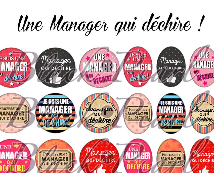 ° Une Manager qui déchire ! °  - Page digitale pour cabochons - 60 images à imprimer