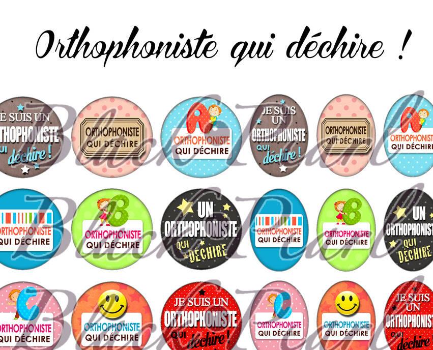 ° Orthophoniste qui déchire ! °  - Page digitale pour cabochons - 60 images à imprimer