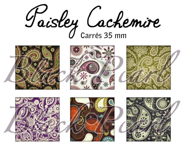 ° Paisley • Cachemire ° - Page de collage cabochons - 15 images à imprimer