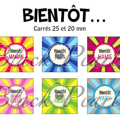 ° bientôt ... ° - page de collage cabochons - 30 images