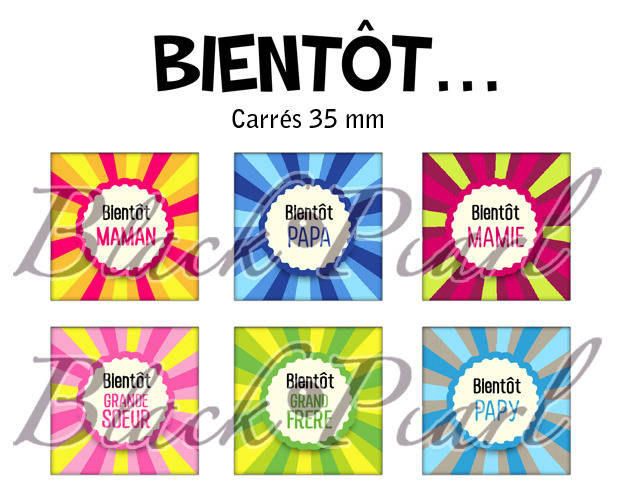 ° Bientôt ... ° - Page de collage cabochons - 15 images