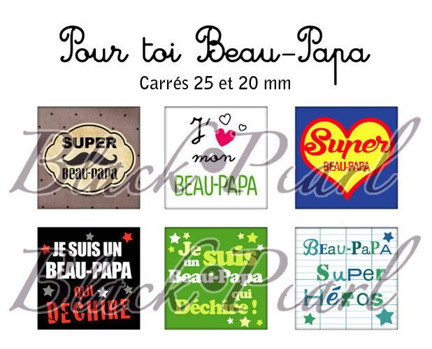 ° Pour toi Beau-Papa ° - Page de collage cabochons - 30 images