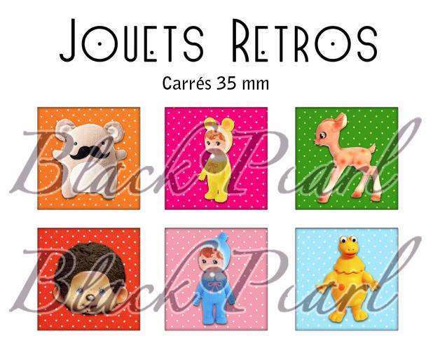 ° Jouets Retros ° - Page de collage cabochon - 15 images