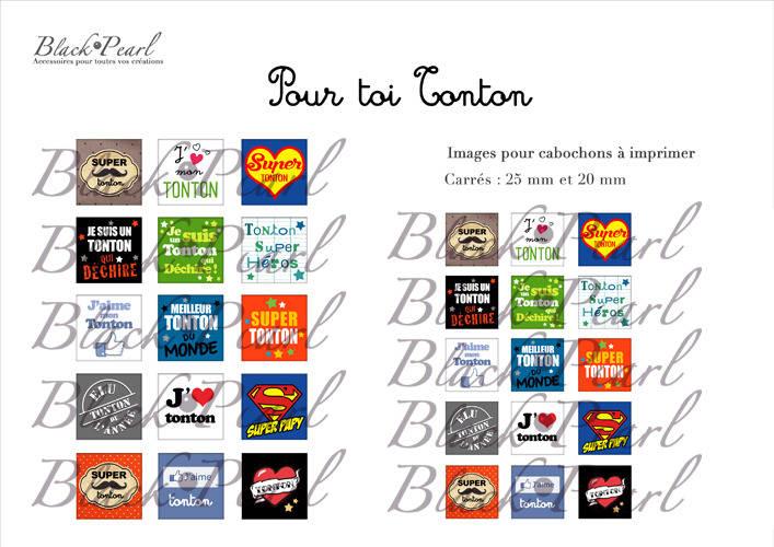° Pour Toi Tonton ° - Page de collage cabochons - 30 images