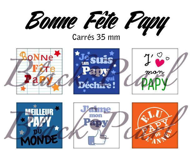 ° Bonne Fête Papy ° - Page de collage cabochons - 15 images