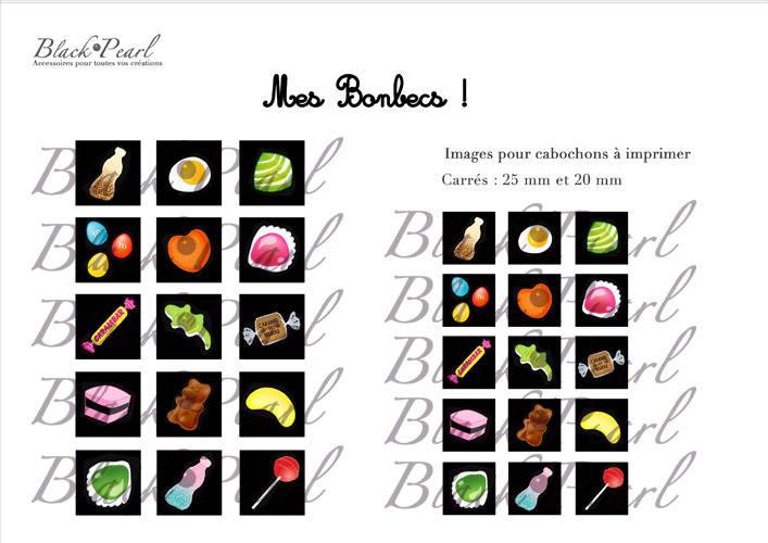 ° Mes bonbecs ! ° - Page de collage cabochons - 30 images
