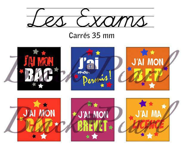 ° Les Exams ° - Page de collage cabochons - 15 images