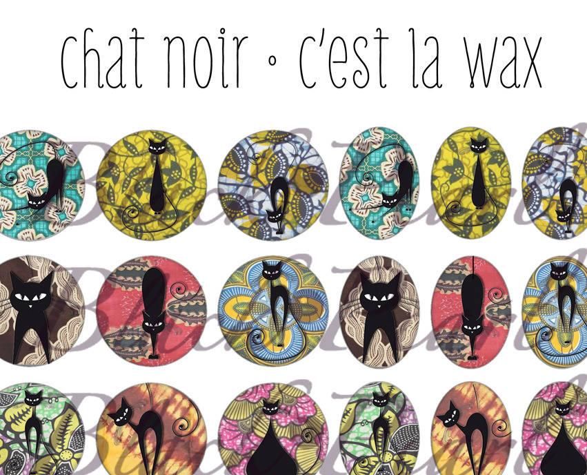 ° Chat Noir • C'est la Wax ° - Planche digitale à imprimer - 60 images