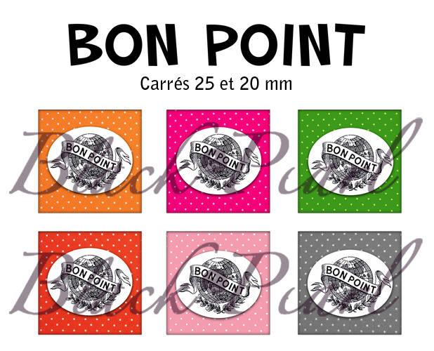 ° Bon Point ° - Page de collage cabochons - 30 images