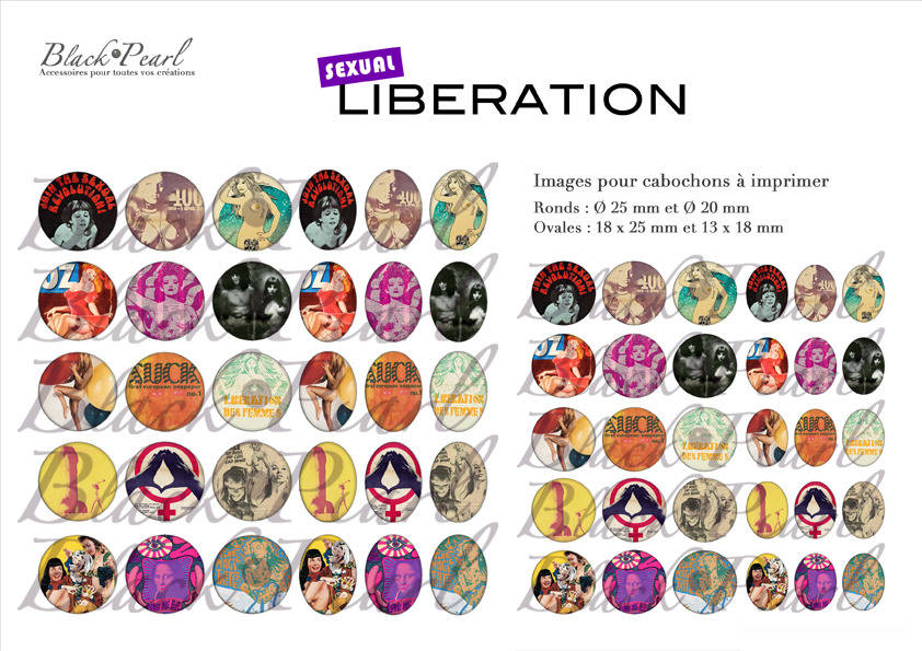 °Sexual Liberation° - Planche numérique digitale à imprimer - 60 images °