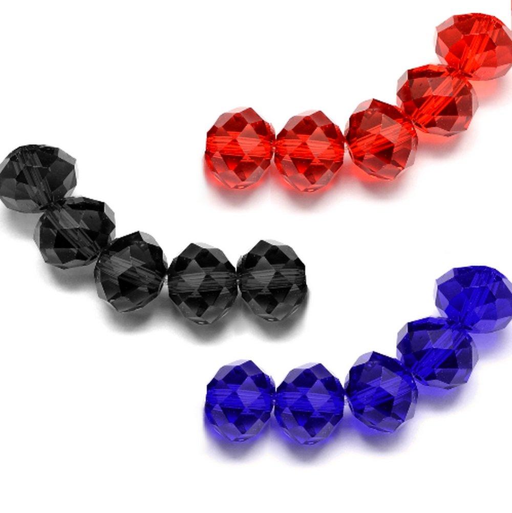 Perles rondelles en verre, imitation cristal autrichien, x120