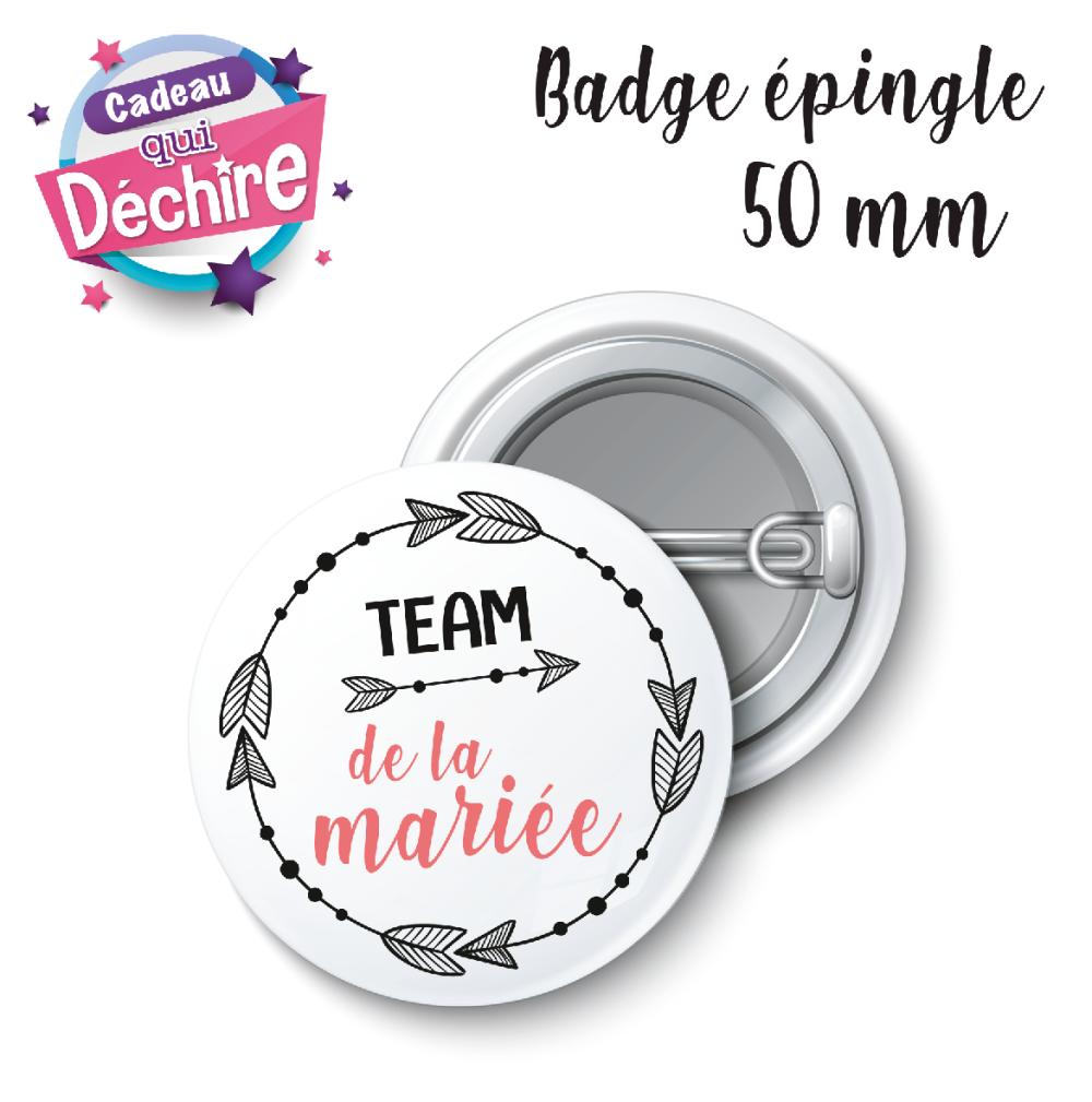Badge Team de la mariée - 50 mm - badge mariage