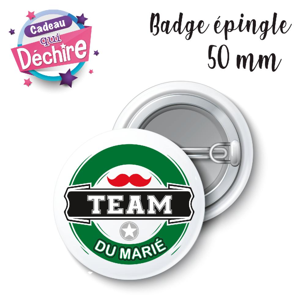 Badge Team du marié - 50 mm - badge mariage - badge EVG - équipe du marié