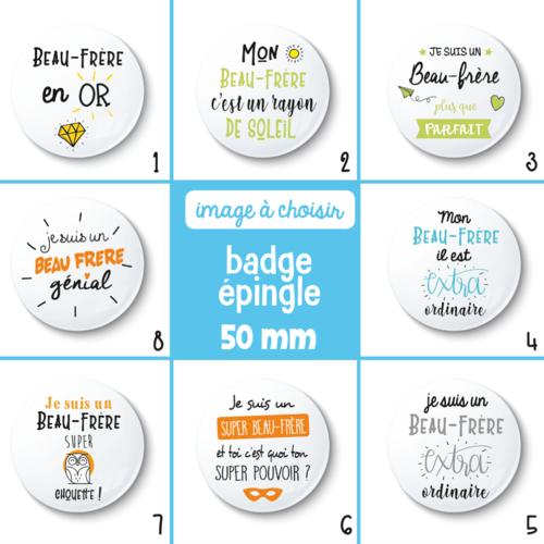 Idée Cadeau Beau FrèRe Badge épingle beau papa   50 mm   idée de cadeau beau papa