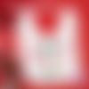 Bavoir bébé blanc - idée cadeau de naissance - bavoir noël - bavoir personnalisable