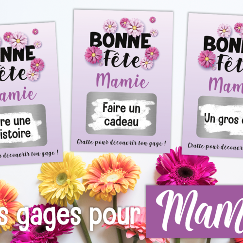 3 Cartes A Gratter Personnalisable Avec Vos Gages Idee Cadeau Fete Des Grands Meres Cadeau Mamie Ticket A Gratter Un Grand Marche