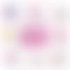 Miroir de poche baptême personnalisable en anniversaire - 50 mm - choix de l'image - thème fille