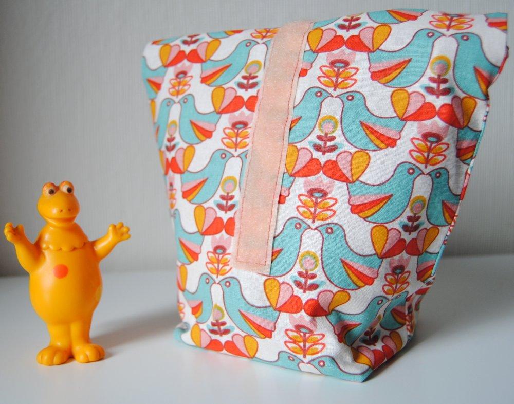 Lunch bag box, sac à goûter, pique-nique, collation, sandwich : découverte cuisine zéro déchet, idée cadeau