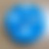 """Eponge ronde lavable en coton bleu """"coeurs"""" et tissu éponge pour le visage"""
