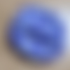 Eponge ronde lavable en coton violet imprimé pois et tissu éponge pour le visage