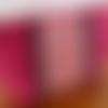 Trousse à maquillage rose irisée paillette