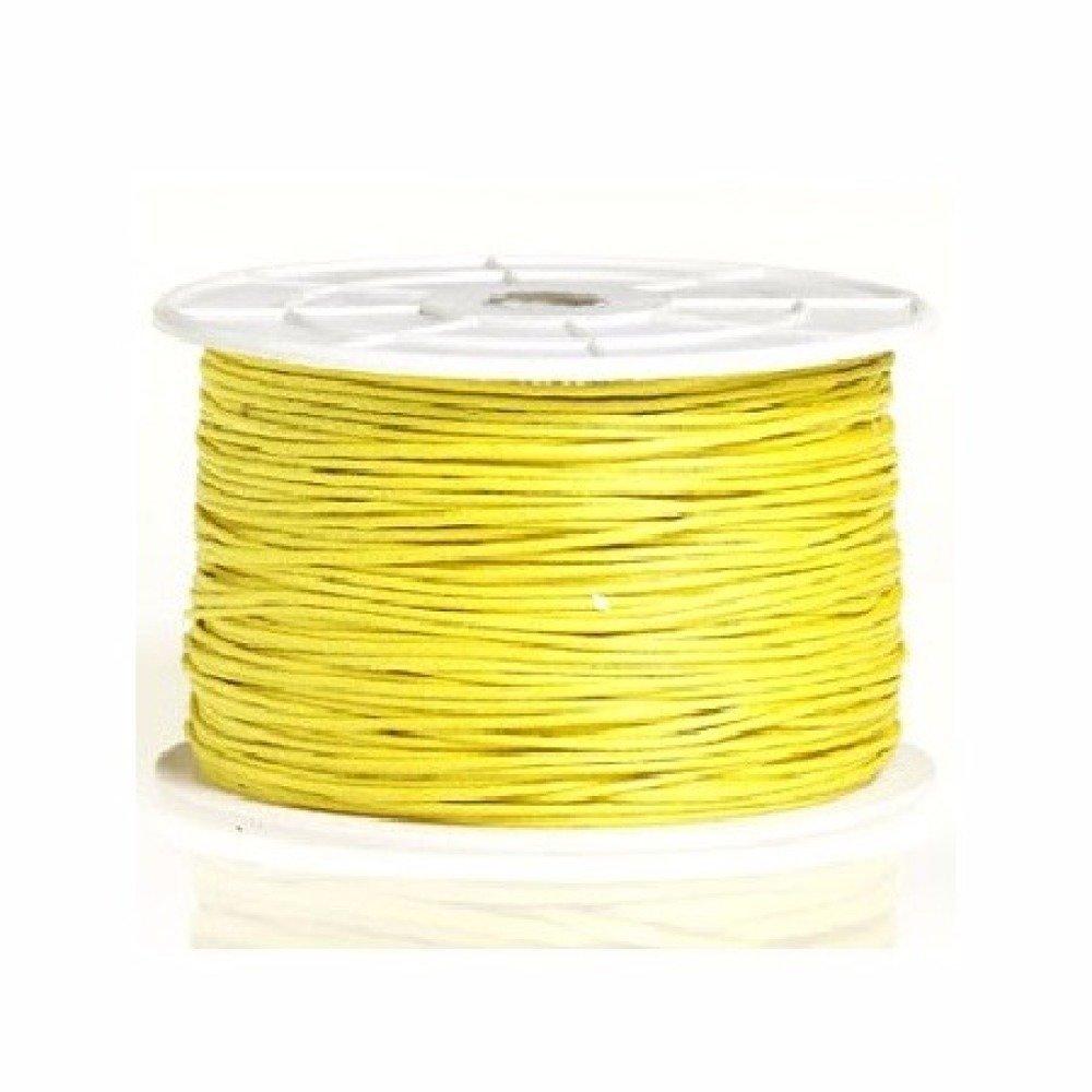 10m coton ciré jaune 1mm