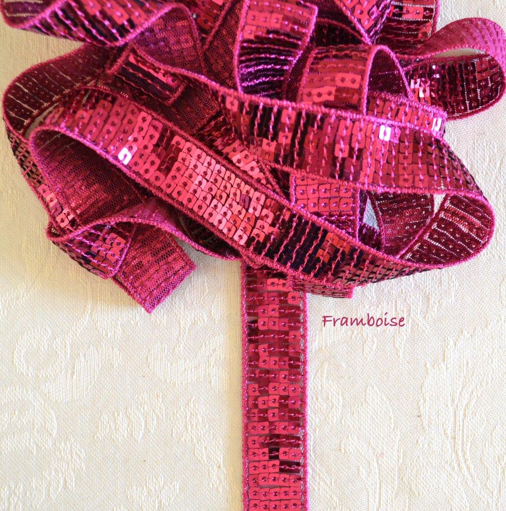 Ruban Framboise; Sequin Vanessa Bruno 2cm Paillette