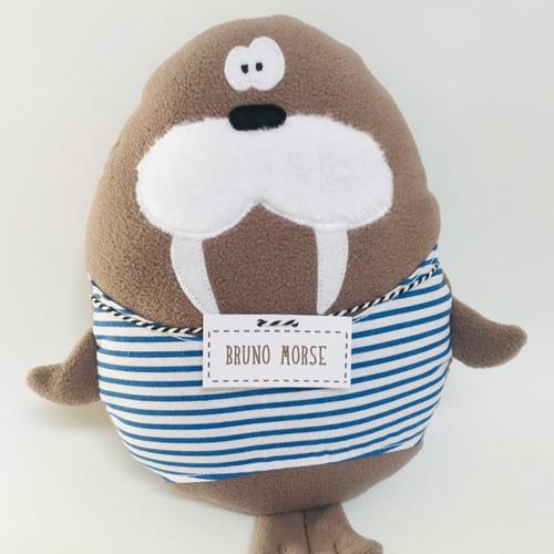 Peluche morse / doudou bruno morse / cadeau de naissance / cadeau bébé / decoration chambre enfant