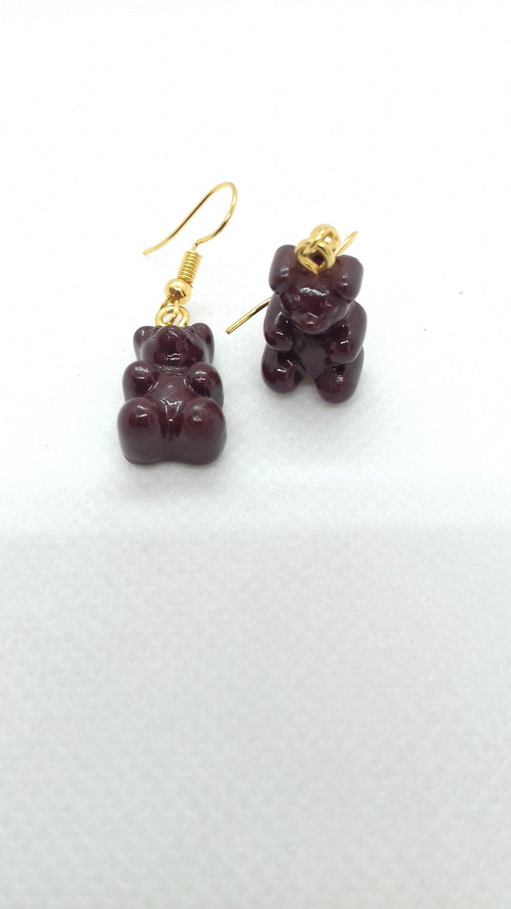 Boucles d'oreilles bonbon