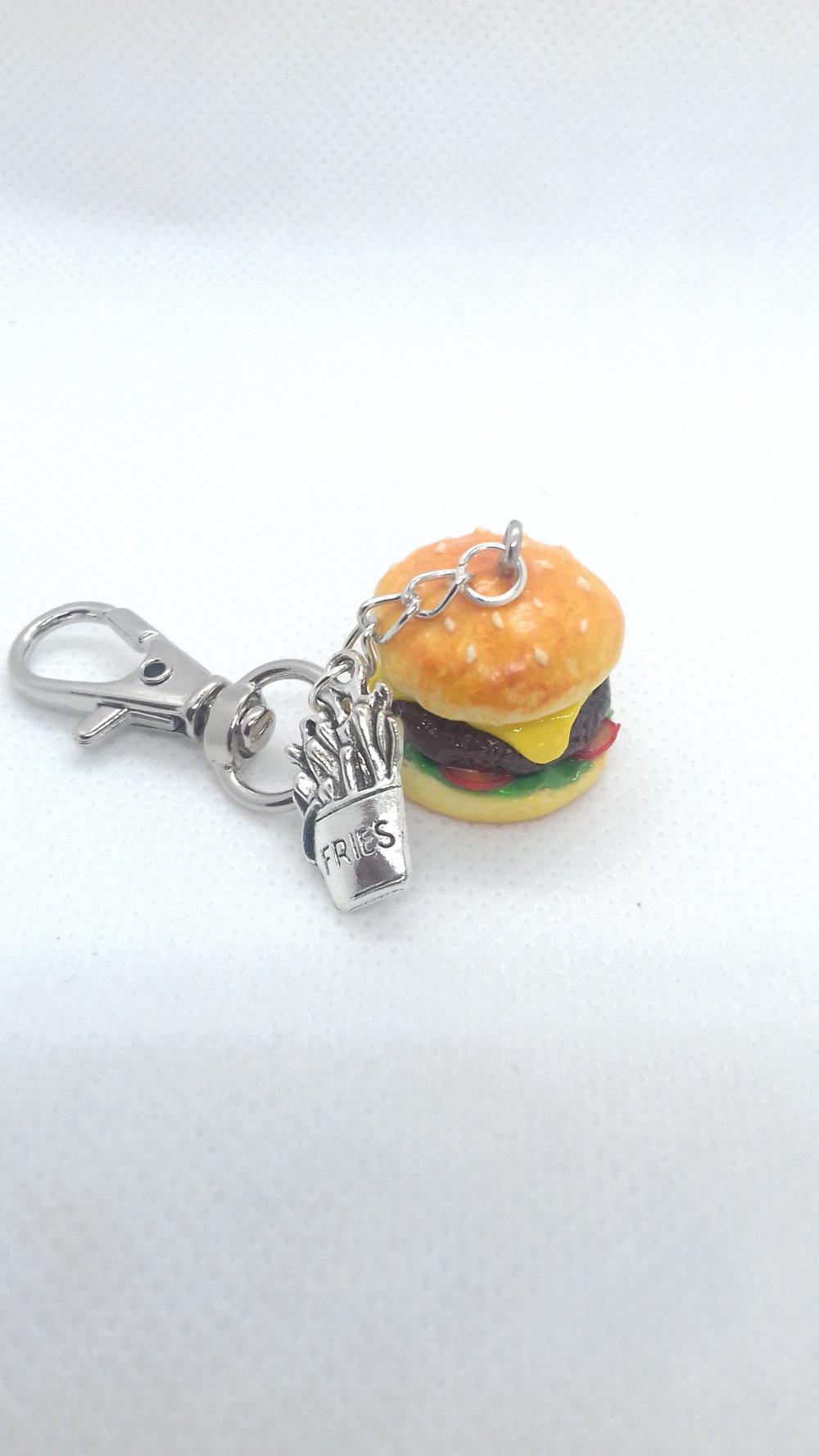 Porte-clés gourmand cheeseburger