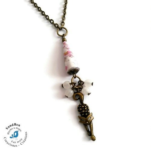 collier chat femme