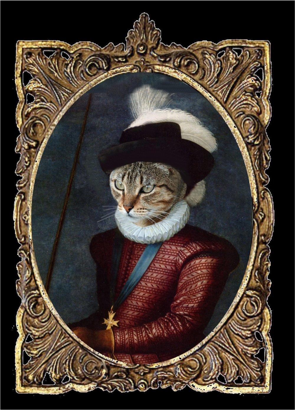 portrait de chat personnalisable , Henri IV
