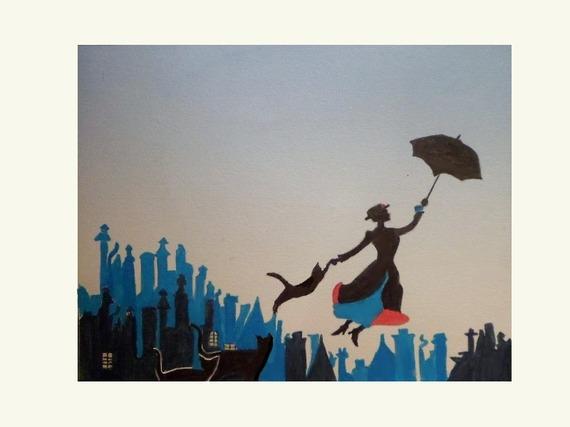 reproduction d'un de mes dessins : les chats de Mary Poppins