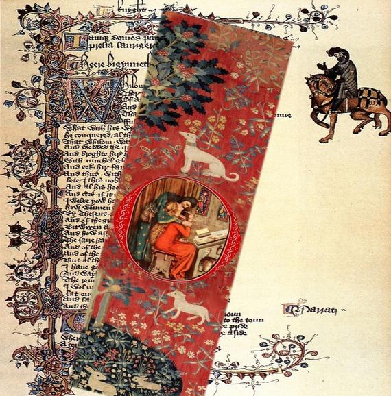 lot de deux marque-pages avec Héloïse et Abelard