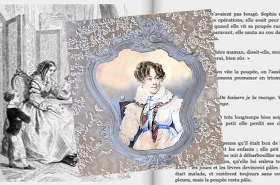 Carte carrée avec son enveloppe :La comtesse de Ségur