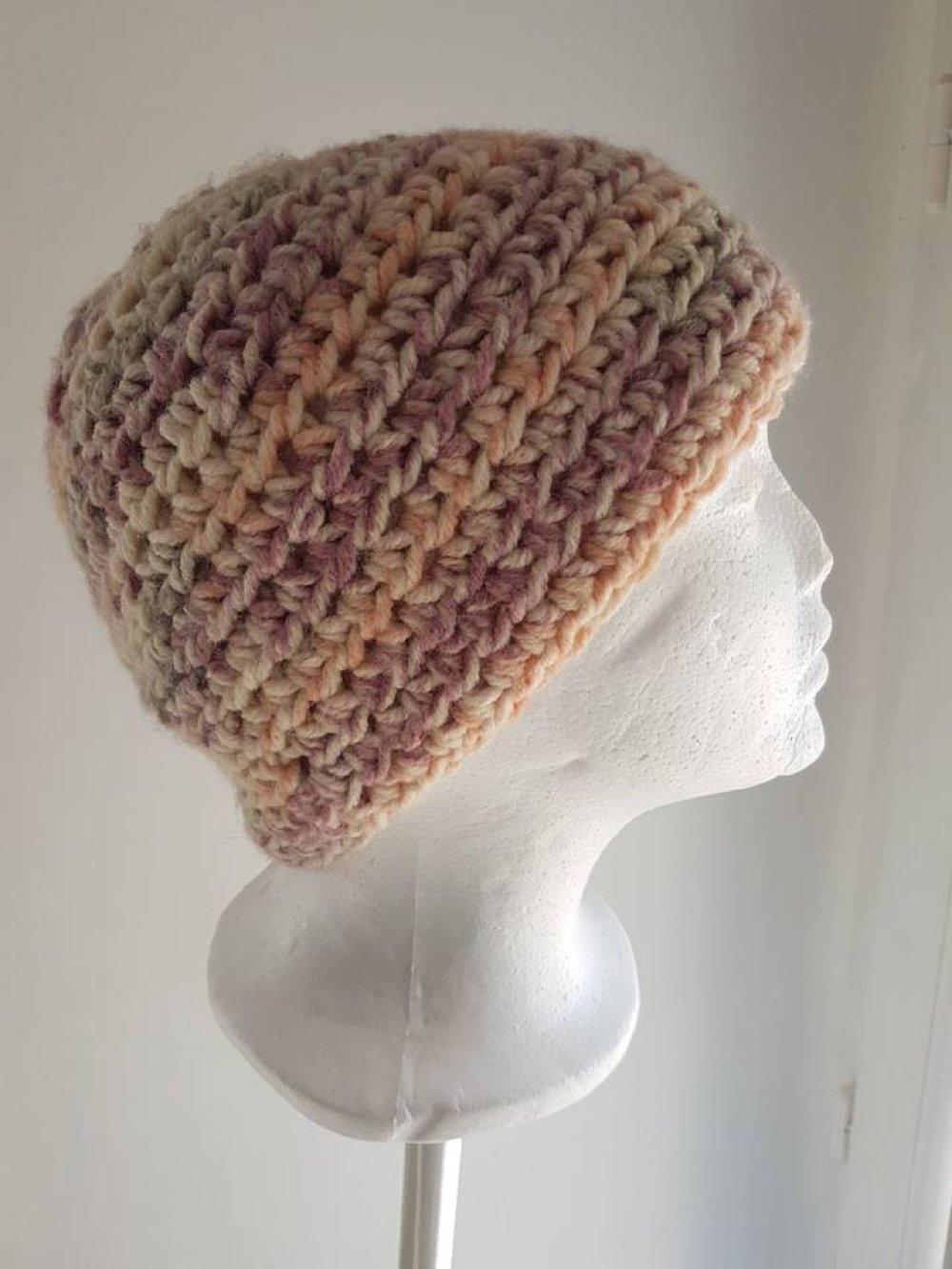 """bonnet laine camaieu rose """"Mon Beanie"""""""