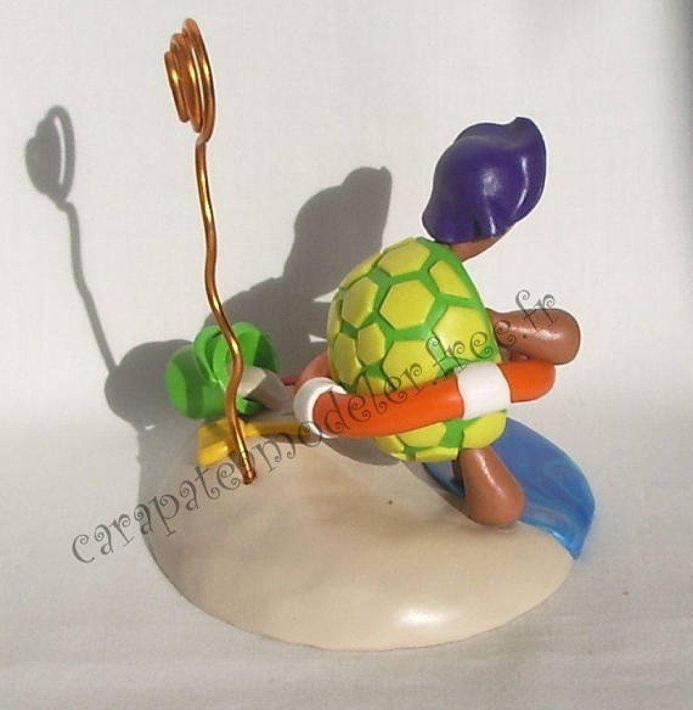 Porte photo tortue en vacances à la plage