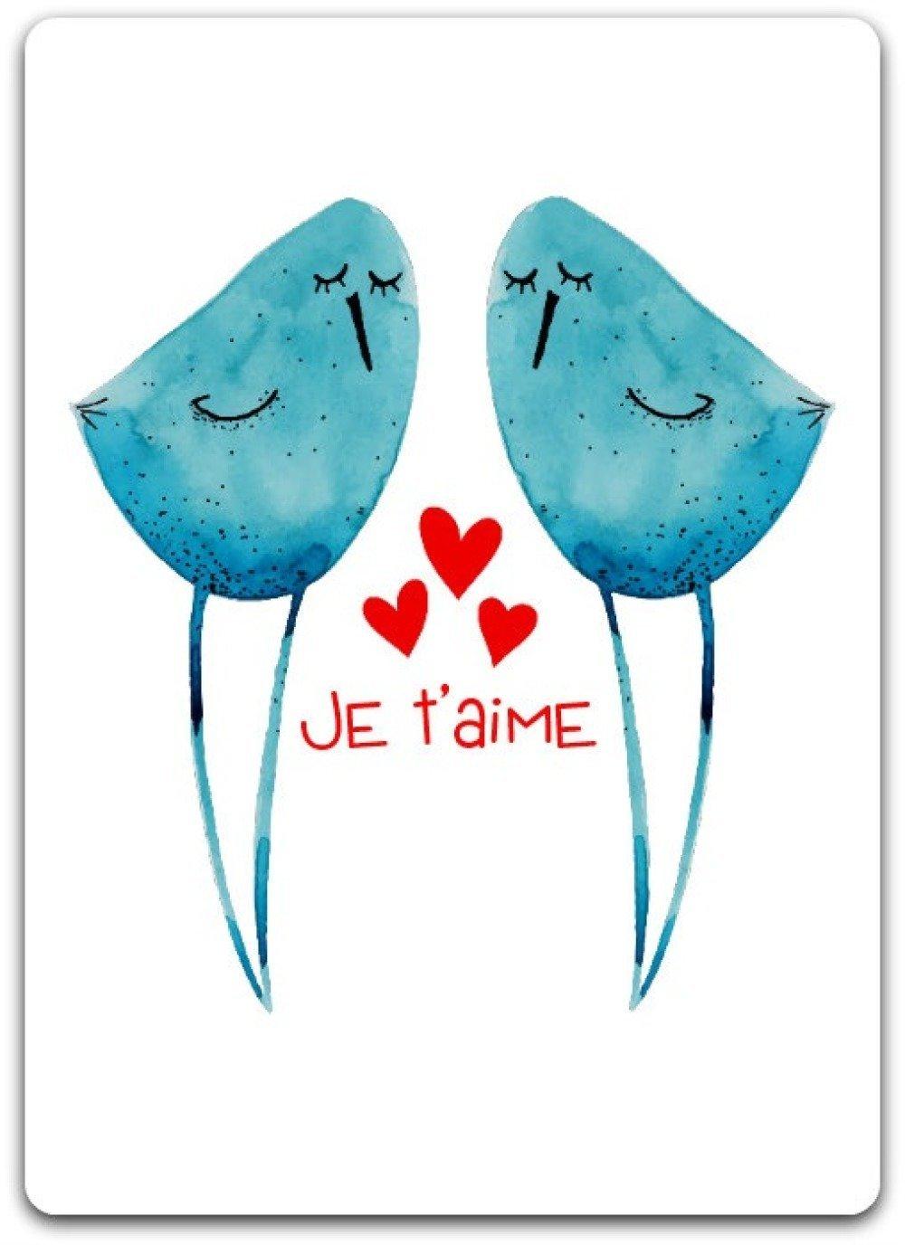 Carte double - Joyeuse St Valentin 12cm x 17cm