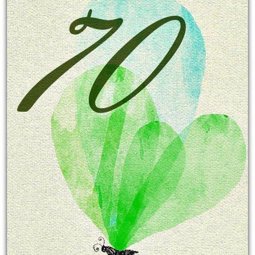 Carte Anniversaire 70 Ans 70 Years Old Anniversaire 12 5cm X 17cm Avec Enveloppe Card Bubble Un Grand Marche