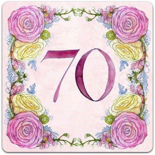 Carte Double Faite Main Anniversaire 70 Soixante Dix Ans Originale 15cm X 15cm Avec Enveloppe Card Bubble Un Grand Marche