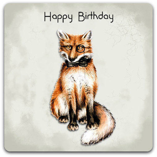 Carte double faite-main 'Happy Birthday' 15cm x 15cm avec enveloppe - Card Bubble
