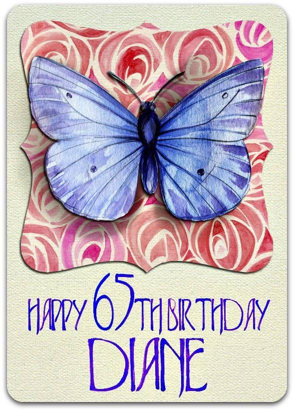 Carte double anniversaire 'Happy Birthday' à personnaliser 21cm x 15cm
