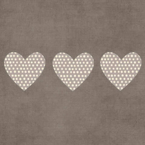 Carte double 'Coeurs' création originale fait main 15cm x 15cm