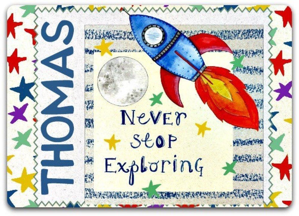 Carte Anniversaire Personnalise Personnalisable Enfant Fusee Rocket 12 5cm X 17cm Avec Enveloppe Un Grand Marche