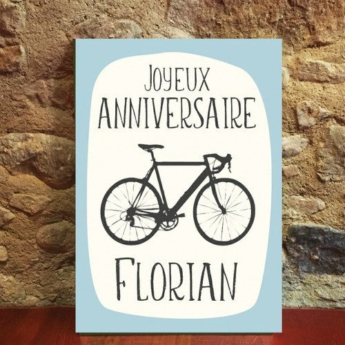 Carte Joyeux Anniversaire Velo Bike Cyclisme Personnalise Personnalisable Tour De France 15cm X 21cm Un Grand Marche