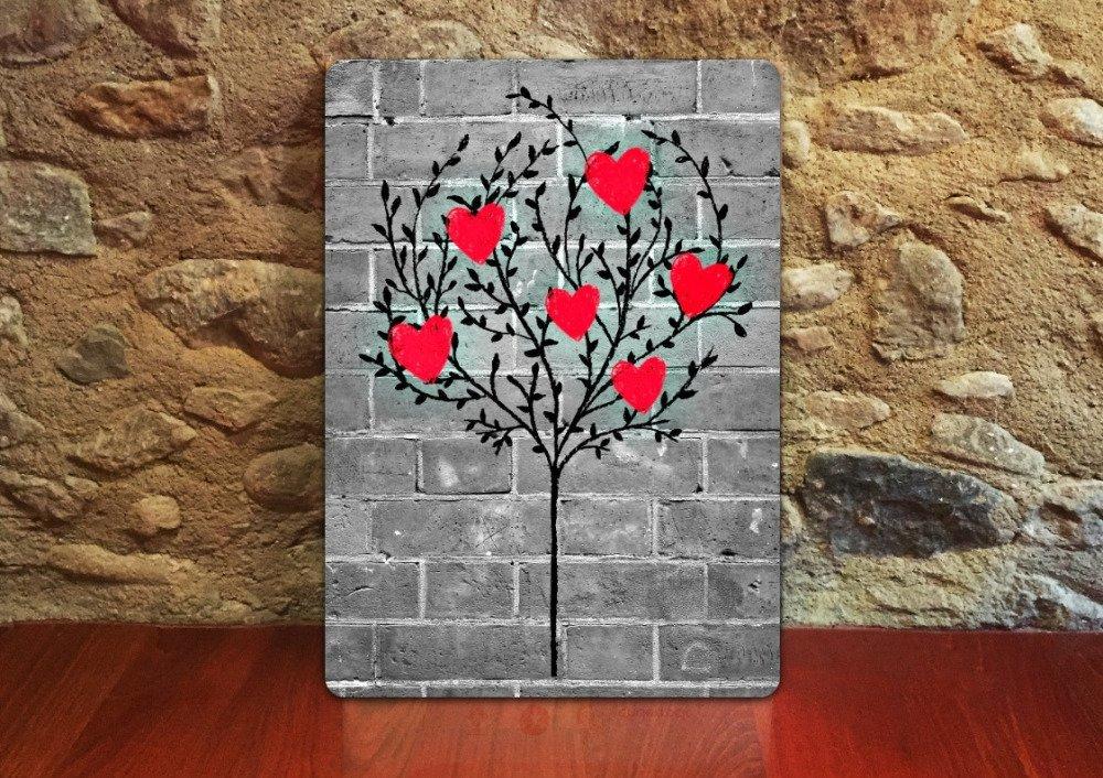 Carte de voeux Arbre de Coeurs Tree of Hearts anniversaire toute occasion 12.5cm x 17.5cm