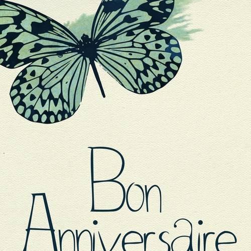 Carte Papillons Bon Anniversaire Faite Main 21cm X 15cm Un Grand Marche