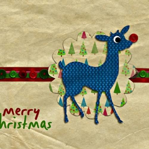Vintage en Bois Carte de Noël 10 x 15 cm fourni avec enveloppe UK Made Cadeau WP74