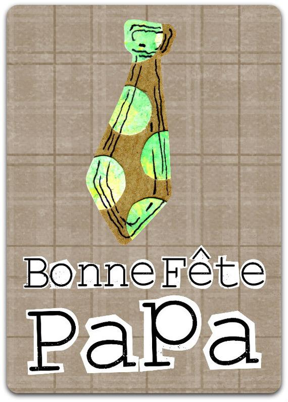 Carte double Fête des Pères - 21cm x 15cm avec enveloppe