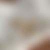 Créoles dorées avec pampille